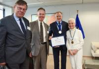 Visite of Seán Ó Riain, President of the Eŭropa Esperanto-Unio (EEU), to the EC