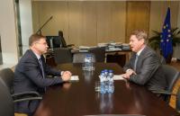 Visite de Norbert Winkeljohann, président du Conseil d'Administration de PwC Allemagne, à la CE