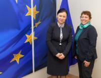 Visite d'Andrea Jelinek, présidente du G29 ou Groupe de travail Article 29 sur la protection des données, à la CE