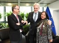 Bilateral meeting between Christos Stylianides, Member of the EC, and Shahida Azfar, Senior Adviser at UNICEF.