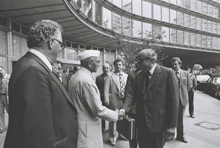 Visit of Morarji Ranchhodji Desai, Indian Prime Minister, to the CEC