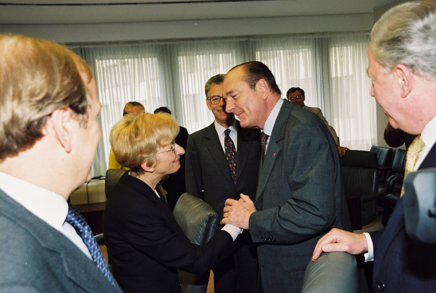 Visit of Jacques Chirac, President of the French Republic, to the EC
