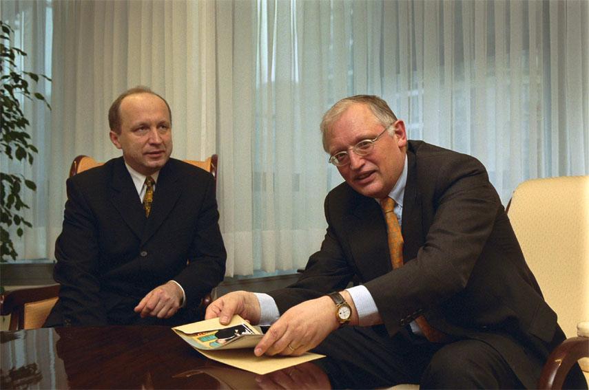 Visite d'Andrius Kubilius, Premier ministre lituanien, à la CE
