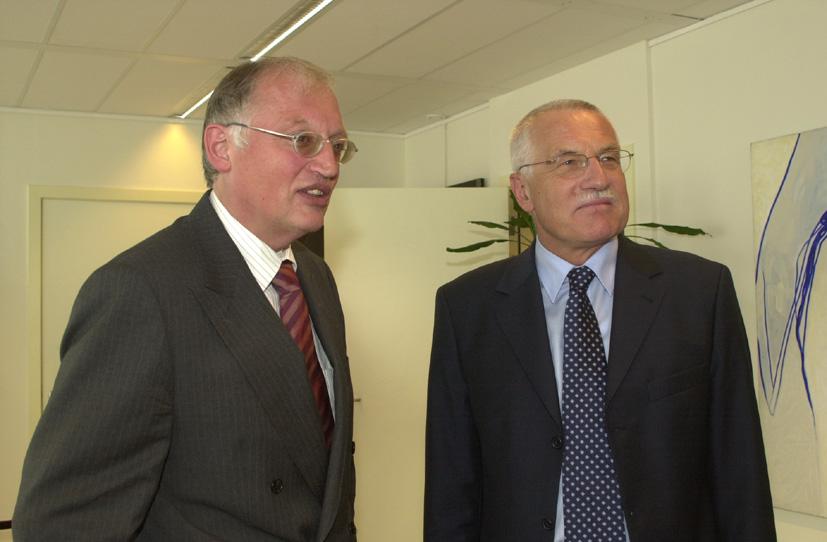 Visite de Václav Klaus, président de la chambre des députés de la République tchèque, à la CE