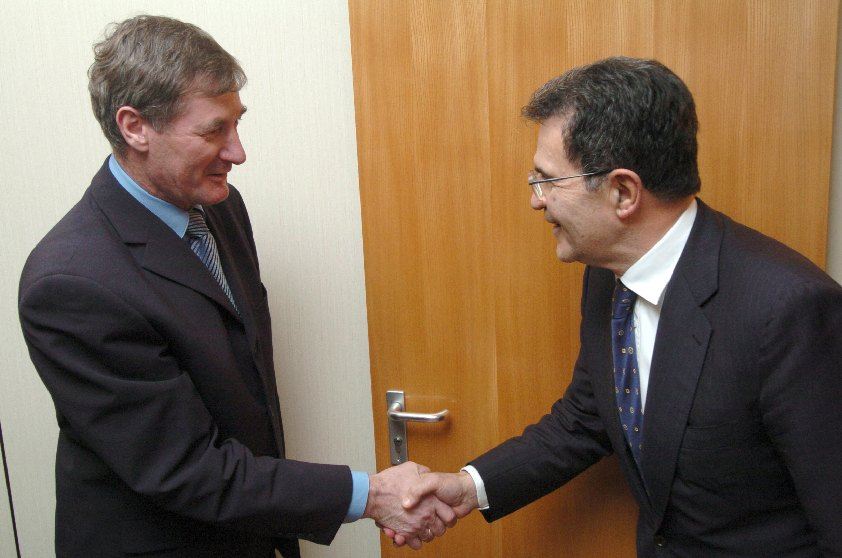 Visit of Pavol Hrušovský, Chairman of the Slovakian National Council, to the EC