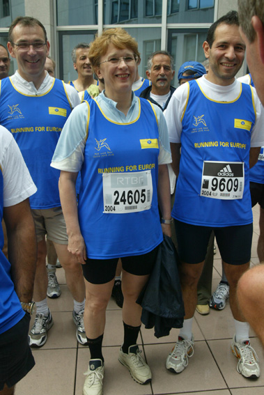 Participation of Sandra Kalniete, Member of the EC, to the 20 km race of Brussels