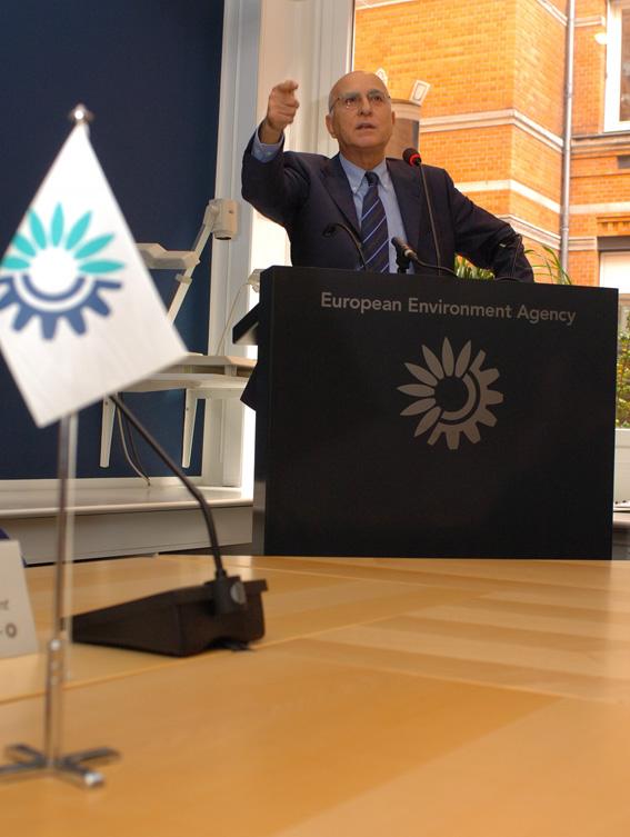 Stavros Dimas, membre de la CE, au Danemark