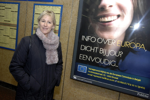 Margot Wallström, Vice-President of the EC, at the launch of the promotional campaign for the 'Europe Direct' service