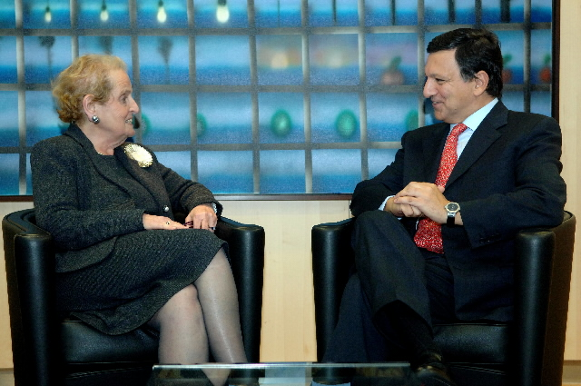 Visit by Madeleine Albright, Chairman of the National Democratic Institute for International Affairs, to the EC
