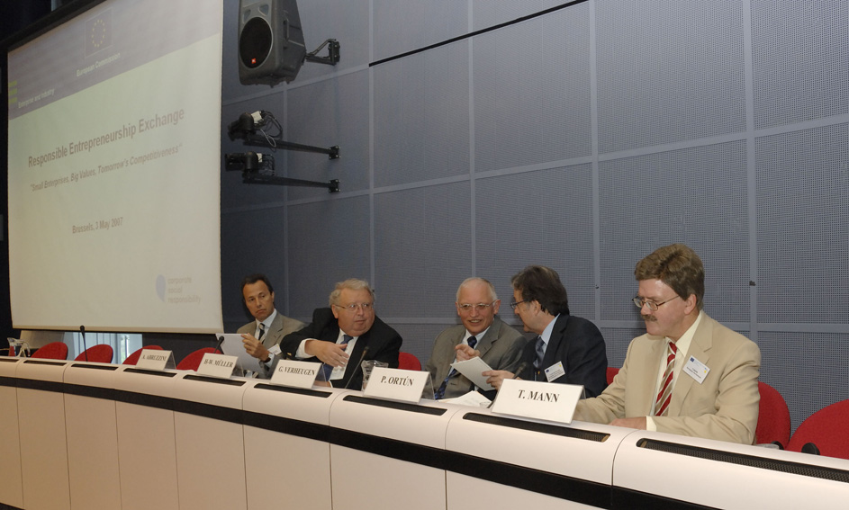 Participation of Günter Verheugen, Member of the EC, at the Responsible Entrepreneurship Exchange