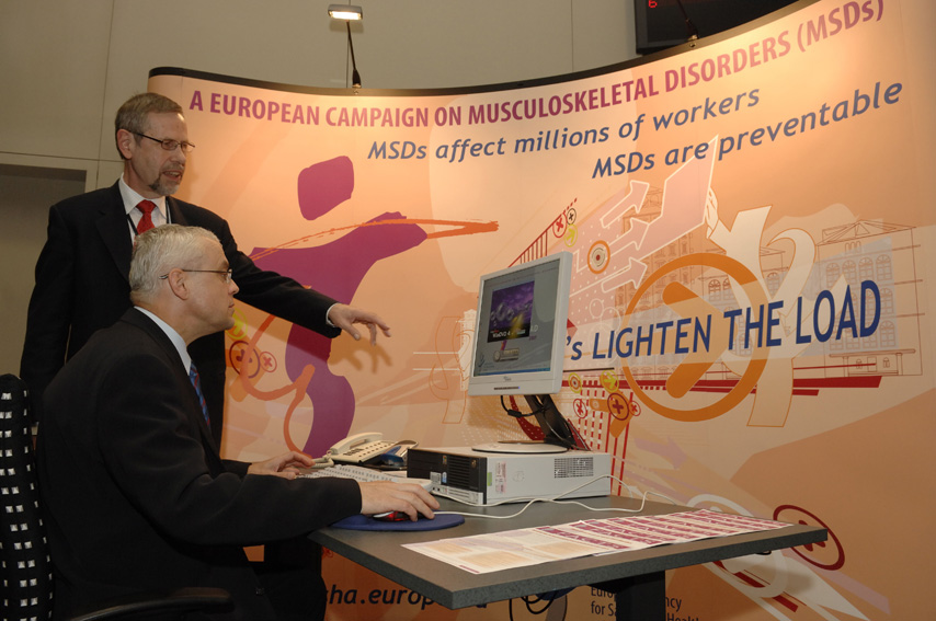 Vladimír Špidla, Member of the EC at the launch of the European Campaign against musculoskeletal disorders  :