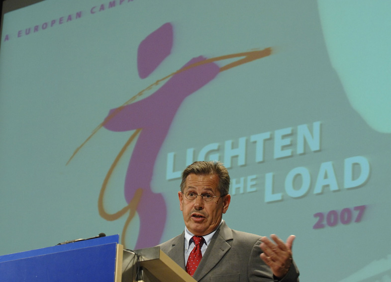 Vladimír Špidla, Member of the EC at the launch of the European Campaign against musculoskeletal disorders  : Lighten the Load