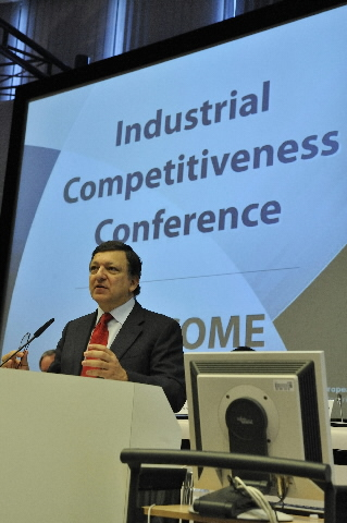 Participation of José Manuel Barroso, President of the EC, in the conference on industrial competitiveness