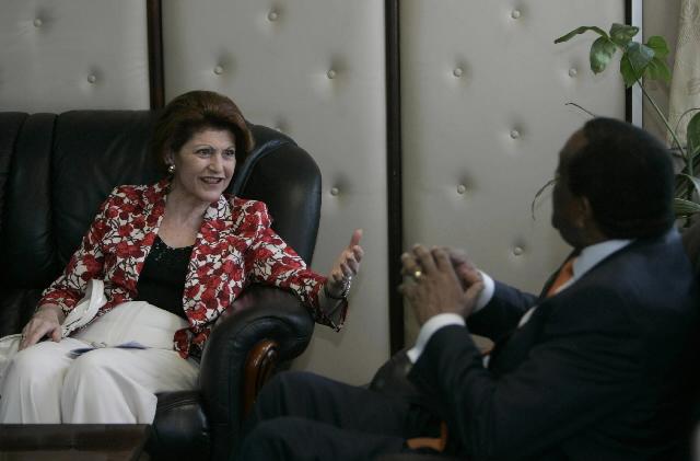 Visit of Androulla Vassiliou, Member of the EC, to Kenya