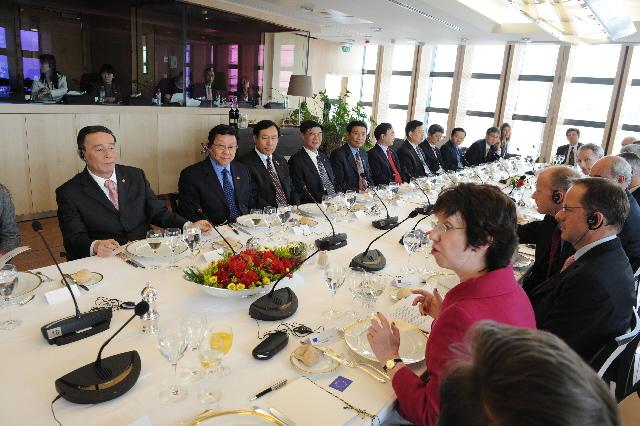 Visite de Wang Qishan, vice-Premier ministre chinois, à la CE