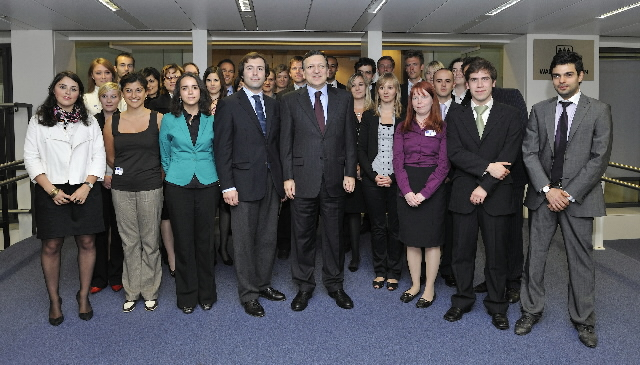 Visit of a delegation of Youth for Europe, to the EC