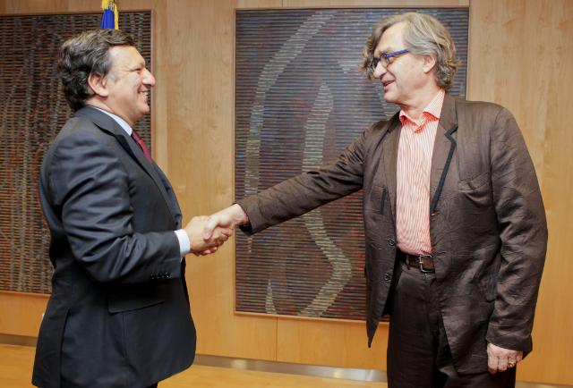 Visit of Wim Wenders, President of the European Film Academy, to the EC