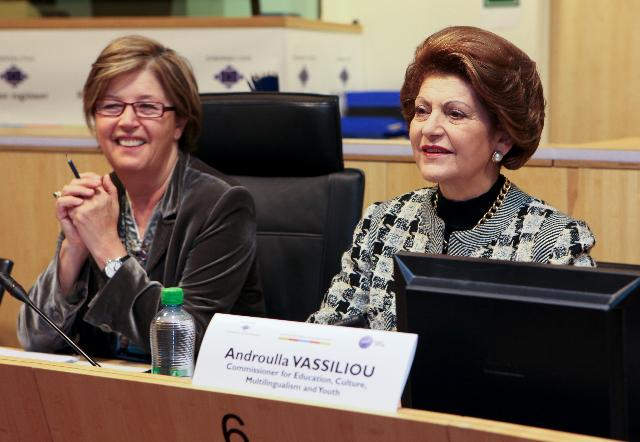 Participation of Androulla Vassiliou, Member of the EC, at the first European Youth Day, organised in collaboration with the CoR