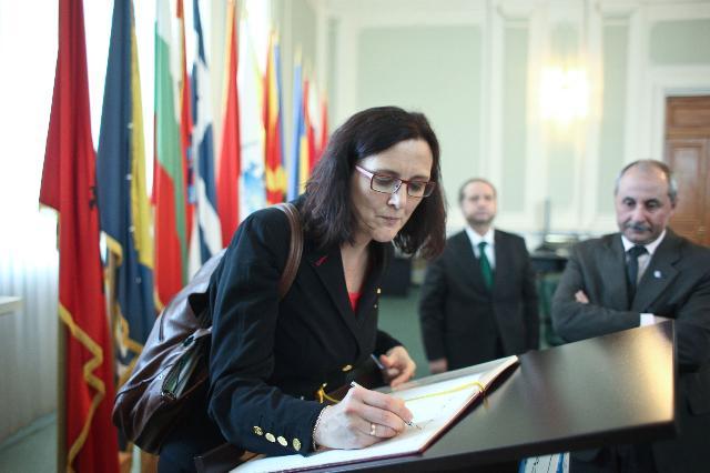 Visite de Cecilia Malmström, membre de la CE, en Roumanie