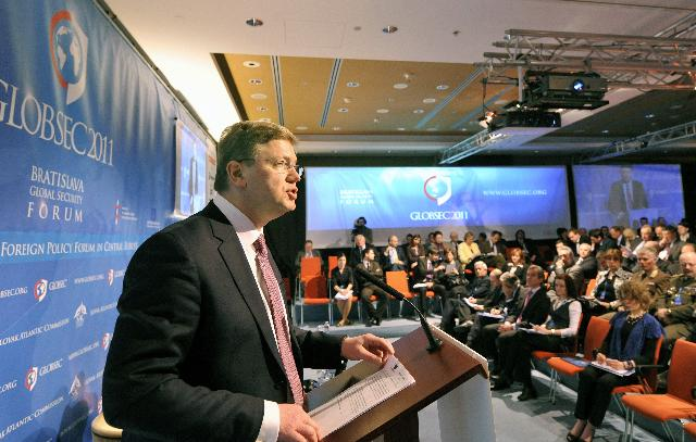 Participation of Štefan Füle, Member of the EC, at the international security conference Globsec 2011, in Bratislava