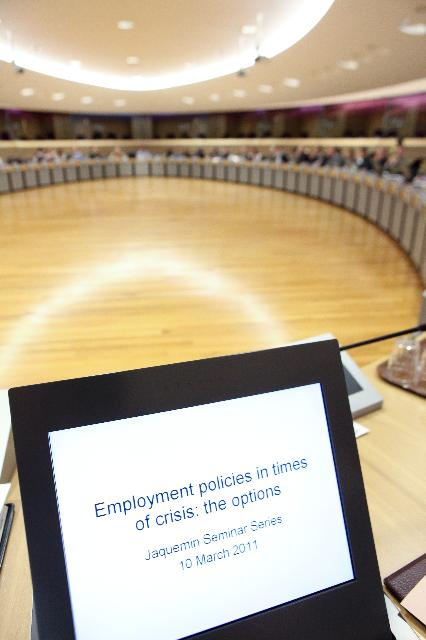 20th micro-economic Jacquemin Seminar, Employment policies in times of crisis; the options