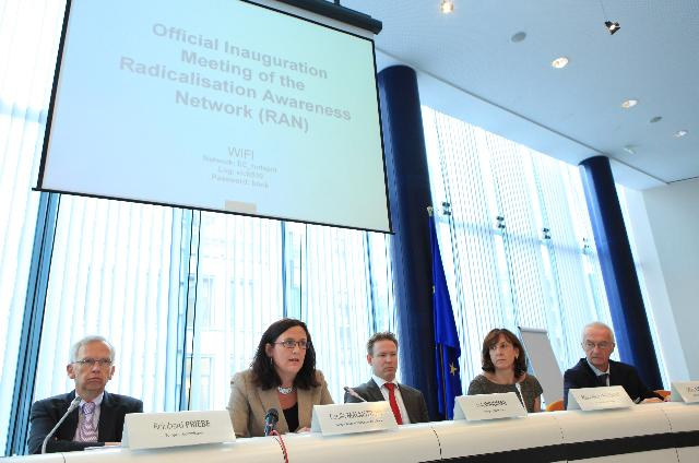 Participation of Cecilia Malmström, Member of the EC, at the inauguration of the Radicalisation Awareness Network
