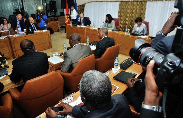 Visite de José Manuel Barroso, président de la CE, en Angola