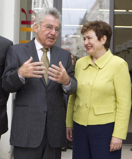 Visit of Kristalina Georgieva, Member of the EC, to Austria