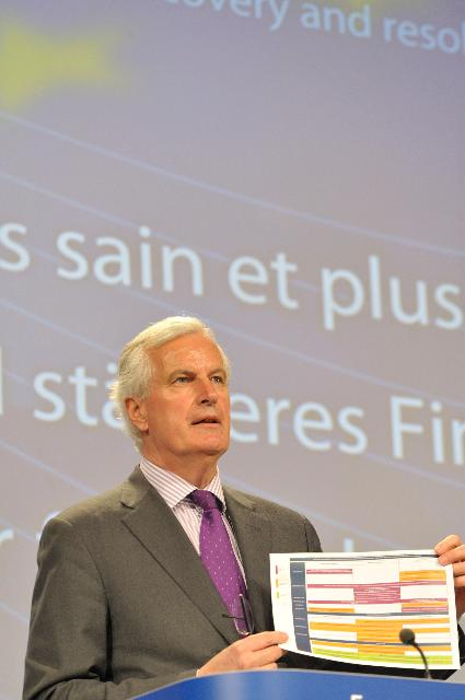 Press conference by Michel Barnier, Member of the EC, on the new framework for bank recovery and resolution