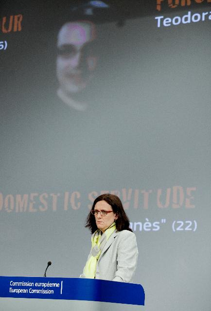 Press conference by Cecilia Malmström, Member of the EC, on the EU strategy against trafficking in human beings for 2012-2016