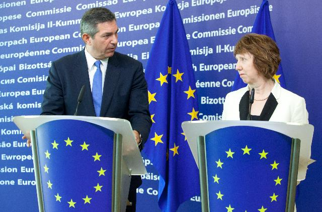 Joint press conference by Catherine Ashton, Vice-President of the EC, and Stavros Lambrinidis, appointed EU Special Representative for Human Rights, on the EU strategic Framework and Action Plan on Human Rights and Democracy