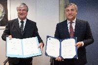 Signature ceremony of the Medium Earth Orbit Local User Terminals agreement, by the EC and Cyprus