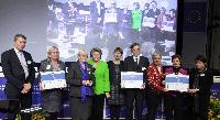 Giving by Viviane Reding, Vice-President of the EC, of the Access City Award 2013