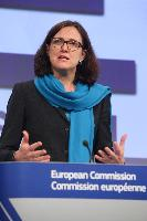 Joint press conference by Cecilia Malmström, Member of the EC, and Troels Oerting, Head of the EC3, before the inauguration of the European Cybercrime Centre