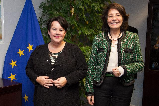 Visit of Sharon Dijksma, Dutch Minister for Agriculture, to the EC