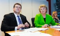 Joint press conference by Viviane Reding and Maroš Šefčovič, Vice-Presidents of the EC, on a recommendation calling upon European political parties to nominate their candidate for the function of President of the EC