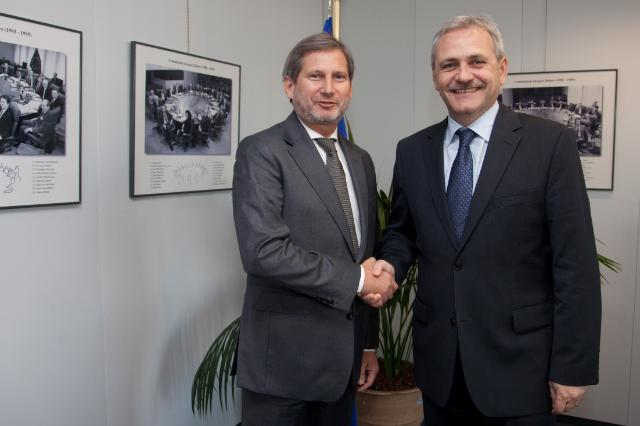 Romania's Deputy Prime Minister and Commissioner Hahn discuss regionalisation in Romania