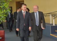 Visite d'Iñigo Urkullu, président du gouvernement basque, à la CE