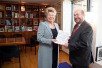 Visite de François Biltgen, ministre luxembourgeois, à la CE