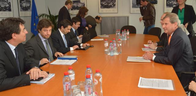 Visit of Miguel Poiares Maduro and Vítor Gaspar, Portuguese Ministers, to the EC