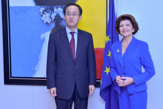 Visit of Seok-pil Kim, President and CEO of Samsung Electronics Europe, to the EC