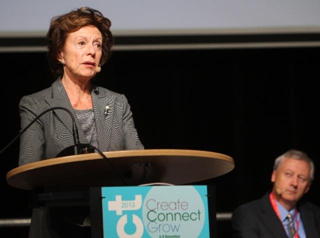 Participation of Neelie Kroes, Vice-President of the EC, in the ICT 2013 - Create, Connect, Grow event