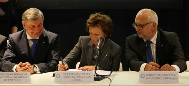 Participation of Neelie Kroes, Vice-President of the EC, in the