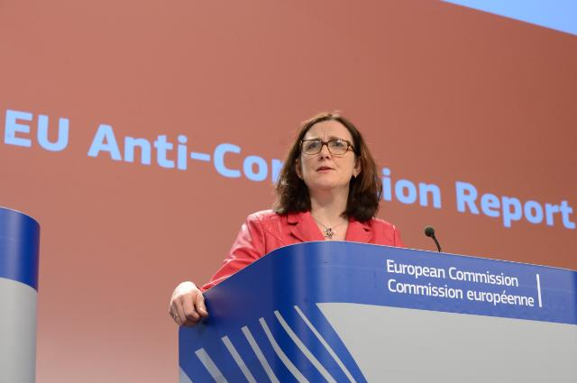 Press conference by Cecilia Malmström, Member of the EC, on the conclusions of the first ever EU Anti-Corruption Report