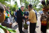 Visit of Andris Piebalgs, Member of the EC, to Papua New Guinea