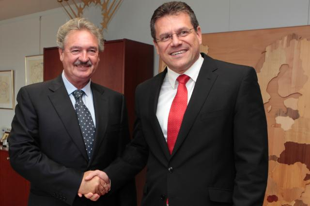 Maroš Šefčovič receives Jean Asselborn, Luxembourgish Minister for Foreign and European Affairs