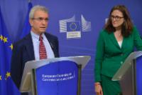 "Illustration of ""Joint press conference by Cecilia Malmström, Member of the EC, and Philippe Fargues, Director of the..."