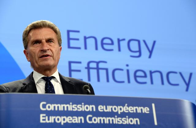 "Illustration of ""Press conference of Günther Oettinger, Vice-President of the EC, on Energy efficiency"""