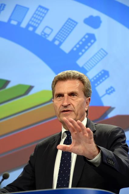 Press conference by Günther Oettinger on Energy efficiency