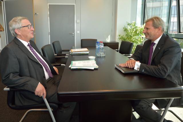 Meeting between Johannes Hahn, Member of the EC, and Jean-Claude Juncker, President-elect of the EC
